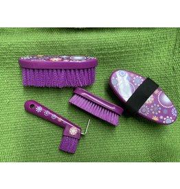 Brush* 4 piece brush set- purple flower- 68-2340-810-0