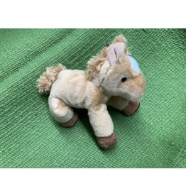 "Stuffed horse- Flopsie Plush Horse 8"" - Tan/White Blaze 87-39230-G2-0"