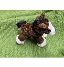 "Stuffed horse-Flopsie Plush Horse 8""- Brown/Clydesdale 87-39230-G5-0"