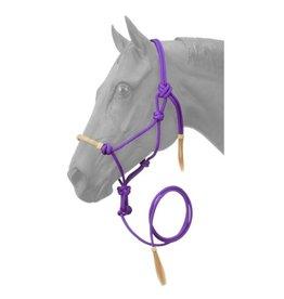 HALT* Rope Halter w/lead , rawhide noseband- Purple 50-1050-10-0
