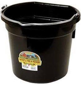 PAIL* Black 8 qt Flatback Bucket - #115-490