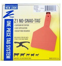 ZZTAG* Z-Tag COW  Z1 No Snag 2PC 25's -Orange 205-114 (Special order)