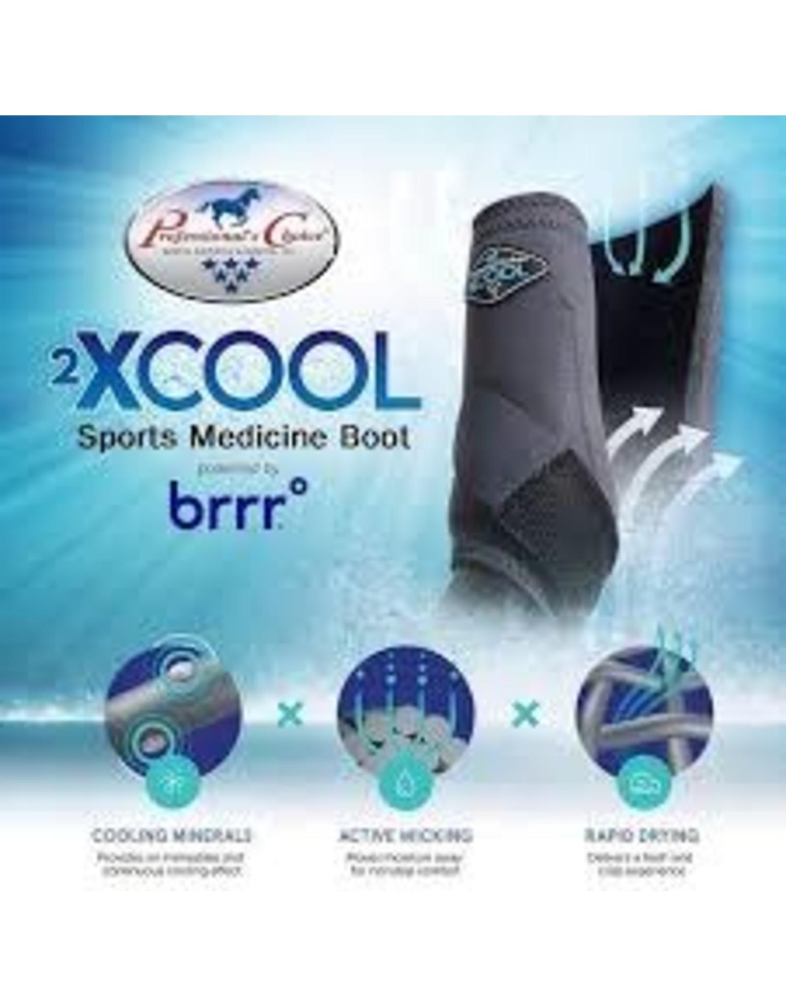 2XCOOL - Sports Medicine Boots -Choclate-*pack of 4*Medium - XC4M-Choclate