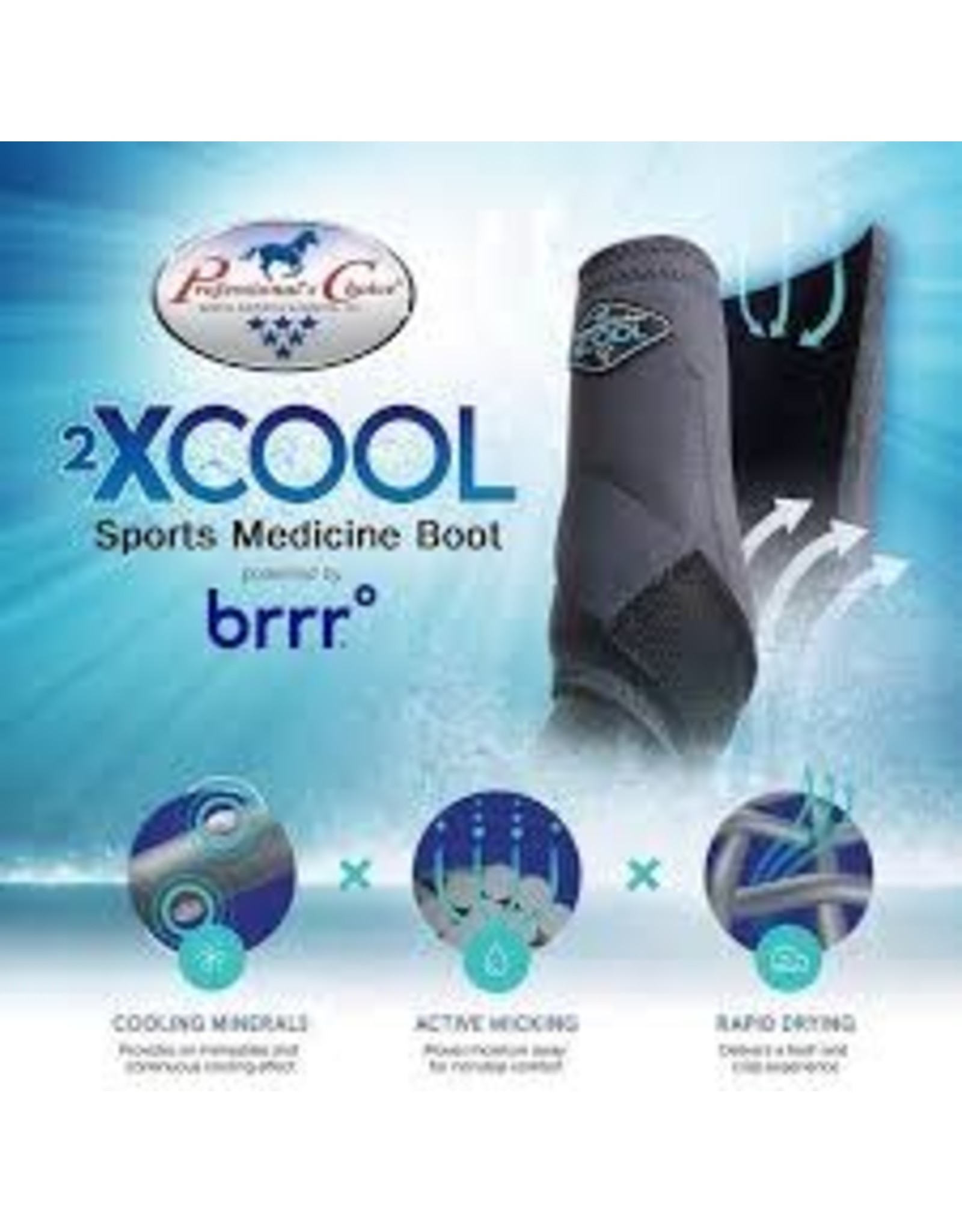 2XCOOL - Sports Medicine Boots - Wine - *pack of 4*  Large - #XC4L-Wine