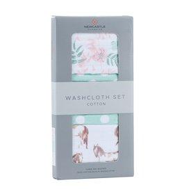 Washcloth set- 3 pack horses & roses 9509