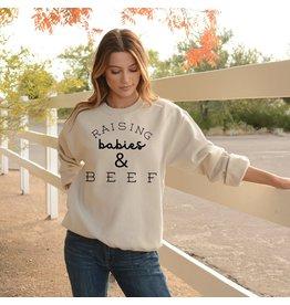 Sweatshirt- White- Bella 3945 Medium