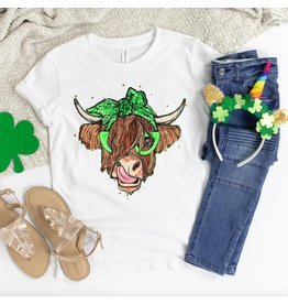 T-shirt- St.Patrick Cow-white- Medium