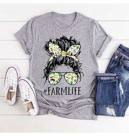 T-shirt- Farm Life-heather- Medium