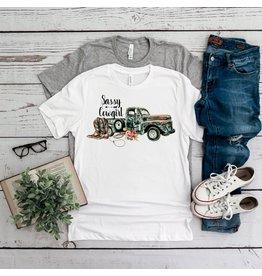 T-shirt- Sassy Cowgirl-bella 3001-White- Large
