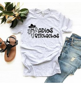 T-shirt- Adios Bitchachos-ash- Medium