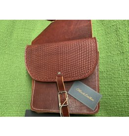 Mack Leather * Leather Saddle Bag  - Hand Made - Stamped
