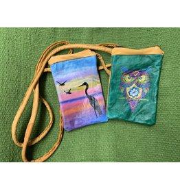 Deerskin painted purse