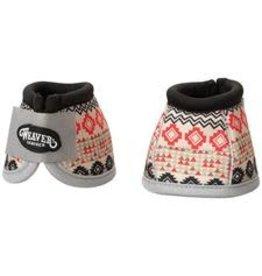 Bell Boot- No Turn Ballistic Nylon Bell Boots - Large  - Crimson Aztec (Black/Red) - 35-4277-P19