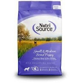 NUTRI SOURCE - Small and Medium Breed PUPPY- Chicken and Rice 15lb