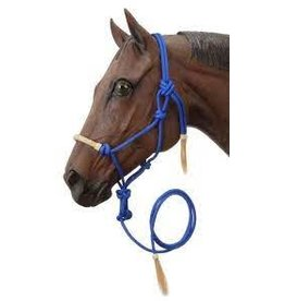 Tough 1 Rawhide Nose Rope Halter w/Lead - 50-1050 (Variety of Colours)