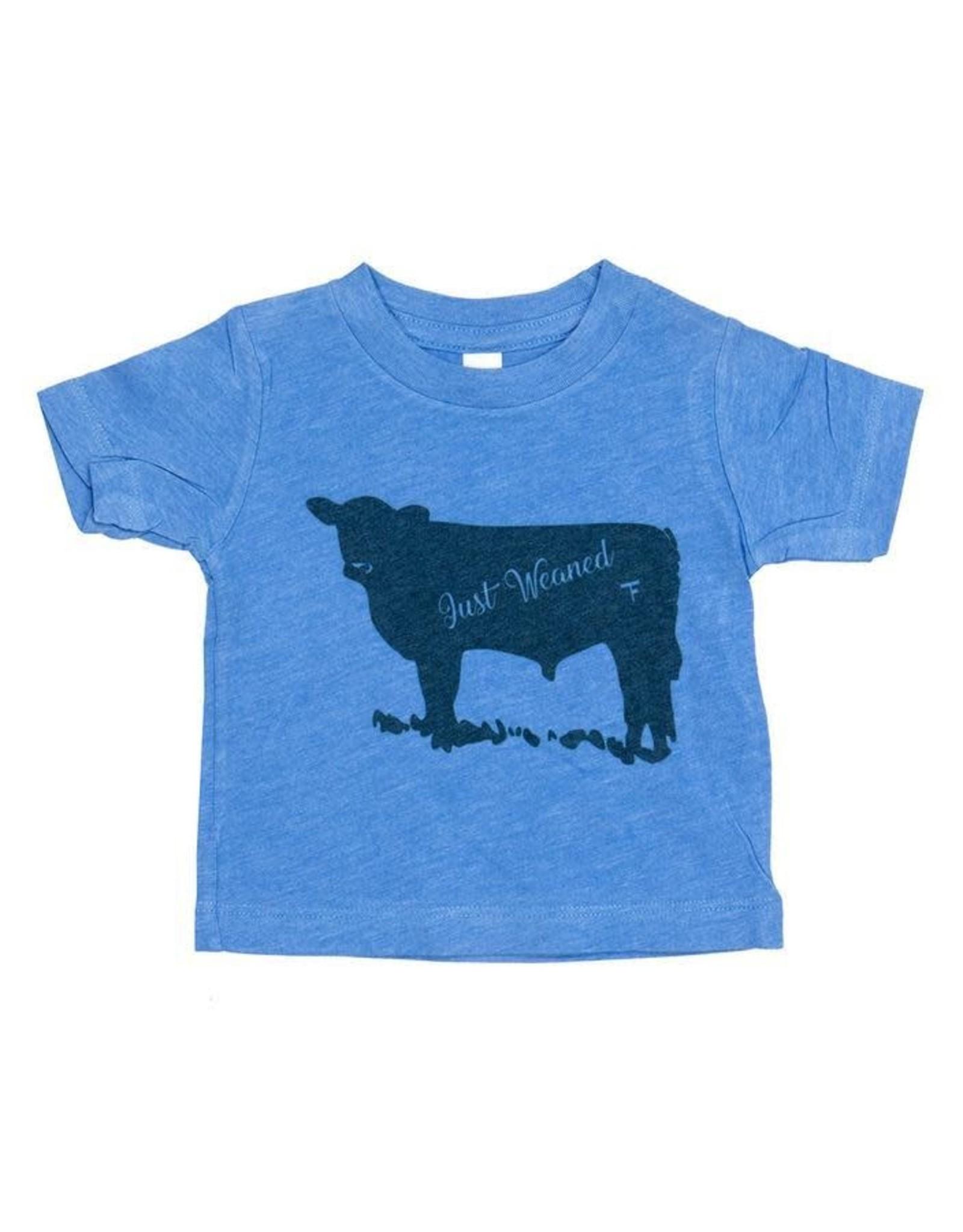 Just Weaned Blue Infant Tee- 6/12 mths TF-JW-TEE