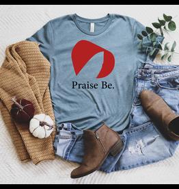 T-shirt- Praise Be-steel blue- Small