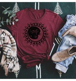 T-shirt- sun moon-white- Medium