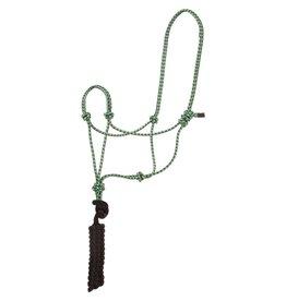 HALT* Economy Mountain Rope Halter w/lead - Regular - green/black/white - #292984-44
