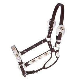 HALT* Adjustable Leather Halter - Gold/Black 5 way - 18-903H-32-0