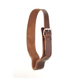 Cribbing collar- strong leather w/heavy steel roller buckle- 52-2090