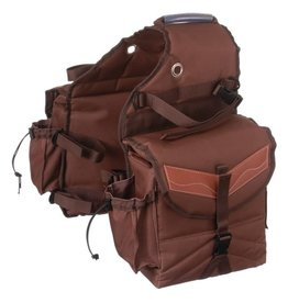 Saddle Bag- Insulated w/pockets- brown- 61-9395-7-0