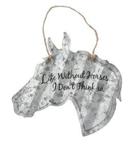 """Metal sign- horse head- 5""""-"""