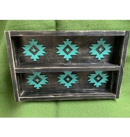 Wooden Buckle shelf- navy