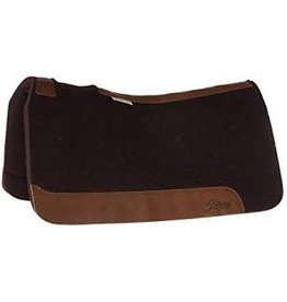 """PAD* 5star - All around - 30"""" x 30"""" - 1"""" - Dark Chocolate  - Horse Contour - brown leather- *No*Breast Collar Protector wear leathers - Leg Cutout - Gullet - Leather Length Regular 1WC-DK"""