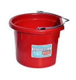 PAIL* TuffSTuff Red Bucket Flatback 8 qt- 670831