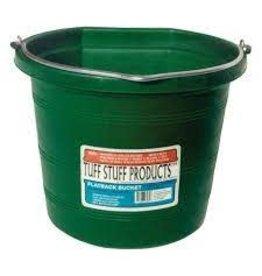 PAIL* TuffSTuff Green Bucket Flatback 8 qt- 670833