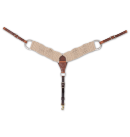 Natural Mohair Breastcollar 3'- BC300MOHAIR-   Mohair stays soft and pliable