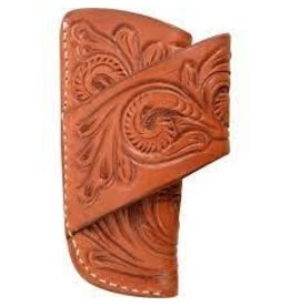 BP Knife Scabbards Chestnut Skirting with Floral Tool- KSCABBPDEBS  ***Back Ordered***