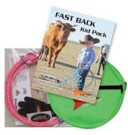 """Fast Back Kid Pack : Vapor 18"""" Rope, Rope Bag, Roping Glove, Fast Back Patch, Clay Tryan Autograph - Colour Varies"""