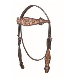 Head* Country Legend Browband Headstall, Floral, 2 Tone - 220025