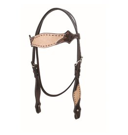 Head* Country Legend Rough Out Browband Headstall, Tan, 2 Tone - 220032-16