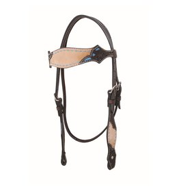 Head* Country Legend Rough Out Browband Headstall, Turq, - 220032-19