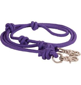 REINS* Braided diamond rope Barrel Reins - Purple - 212761-22