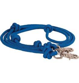 REINS* Braided diamond rope Barrel Reins - Blue - 212761-40