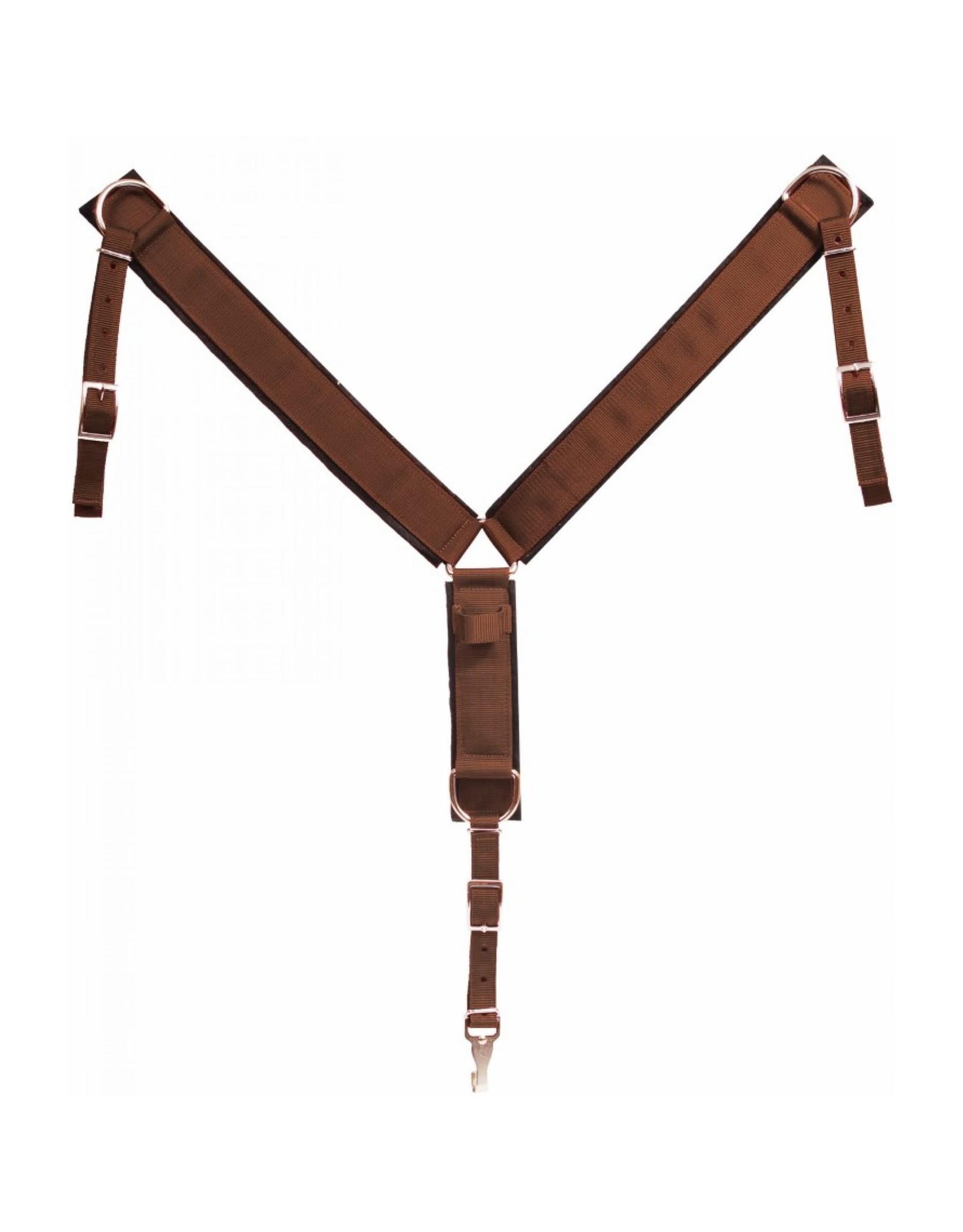 BB* Breast collar- poly web- brown- 202096-41