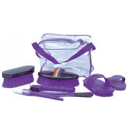 Grooming kit w/bag purple 374472-22