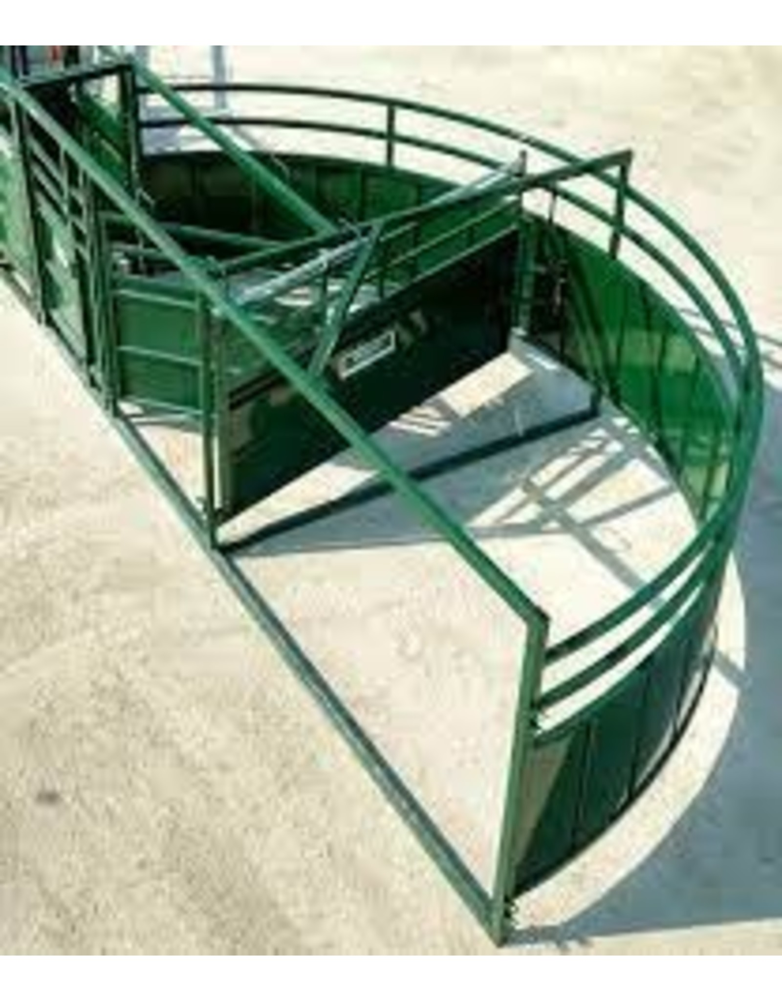 10FT 1/2 CROWDING TUB - LEFT HAND OPERATION  -   Crowding Gate, 3 Curved Panels, Connector Brackets, No Joiner Bars, No Pins/Bolts  (20175786)