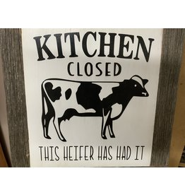 Barn wood Sign- Cactus Coulee - Kitchen Closed