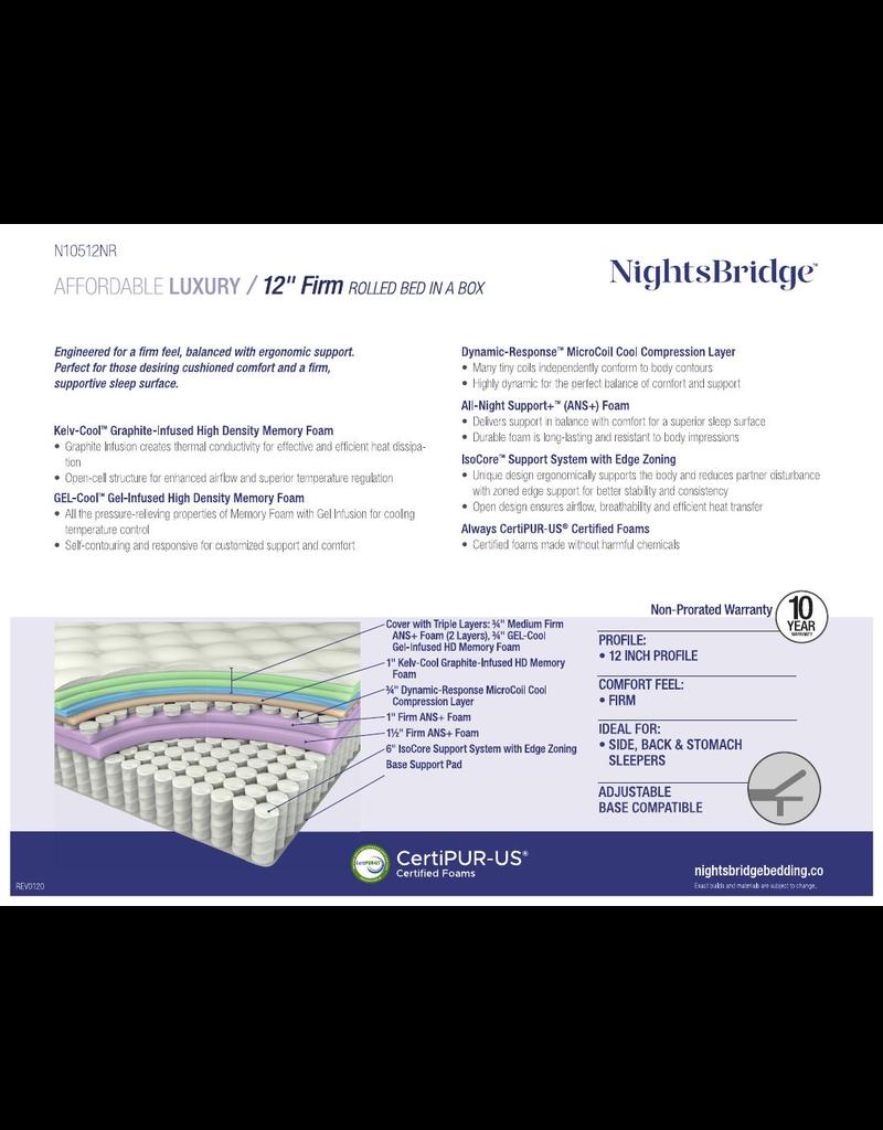 "NIGHTSBRIDGE NIGHTSBRIDGE 12"" FIRM, BNB, CALI KING"