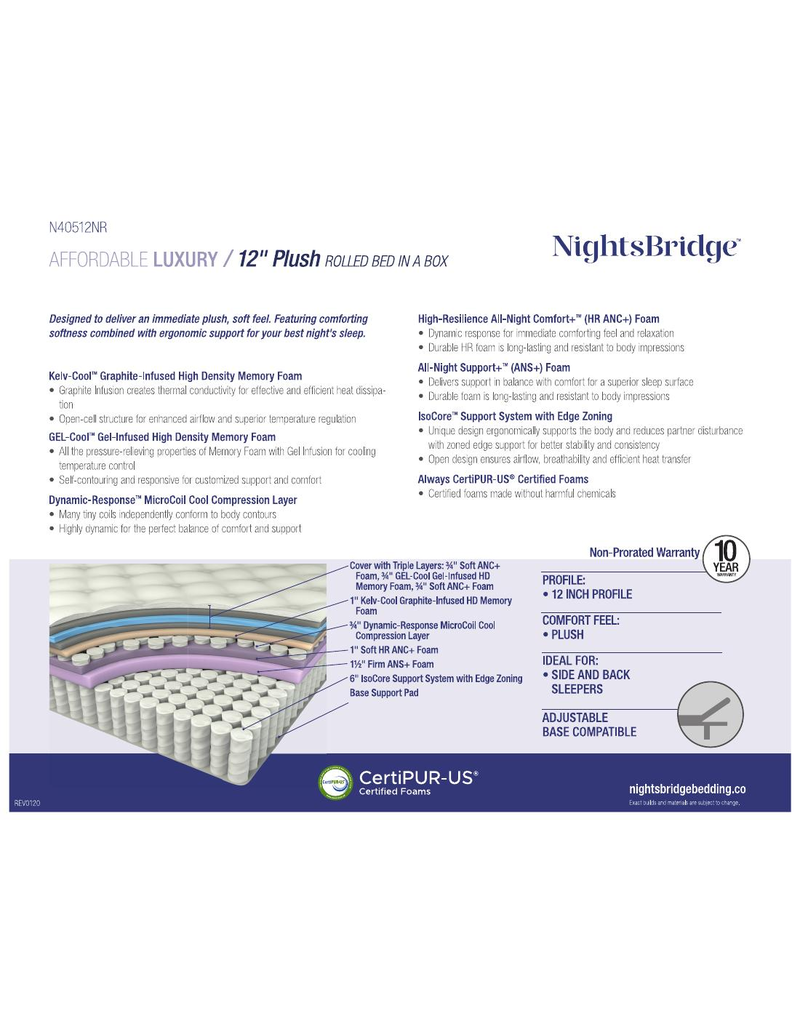 "NIGHTSBRIDGE NIGHTSBRIDGE 12"" PLUSH, BNB, TWIN"