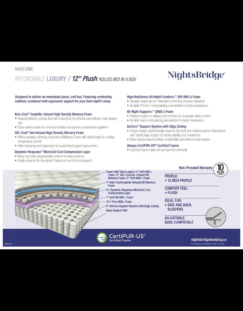 """NIGHTSBRIDGE NIGHTSBRIDGE 12"""" PLUSH, BNB, FULL"""