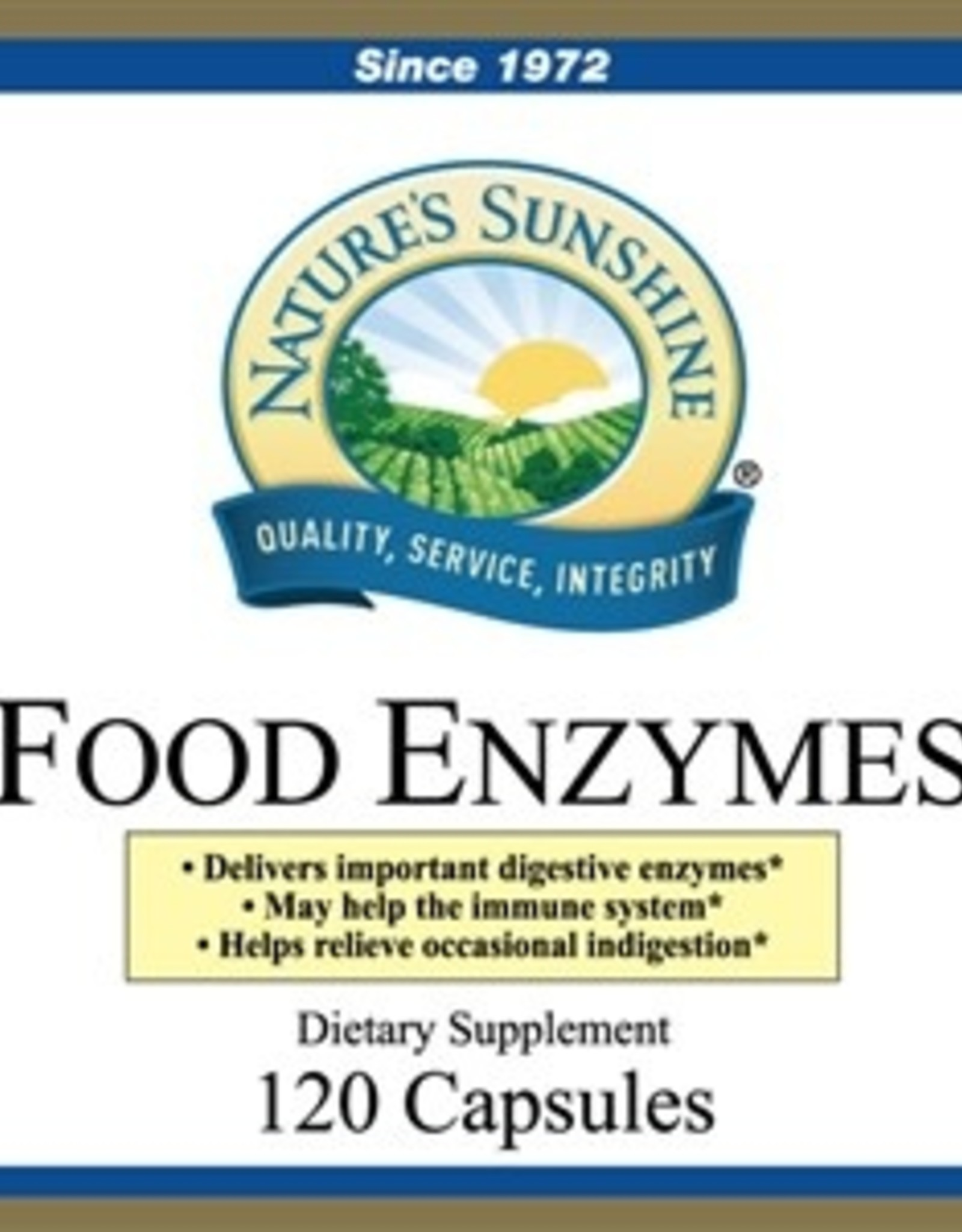 Food Enzymes (120 caps)