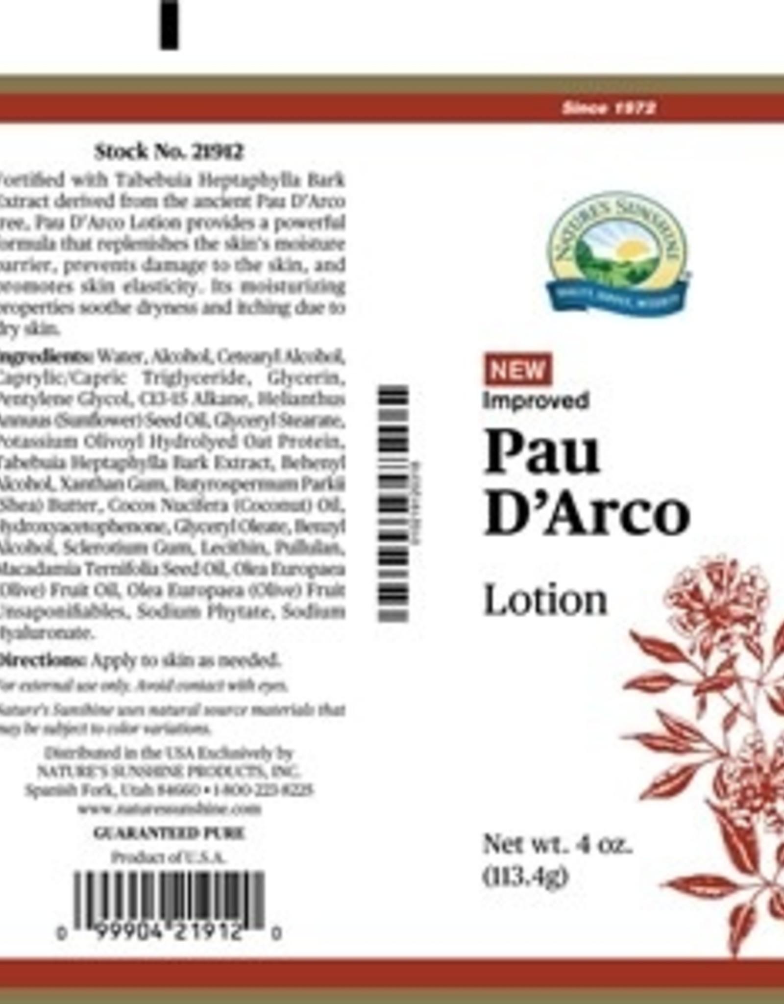 Nature's Sunshine Pau D'Arco Lotion (4 oz. tube)
