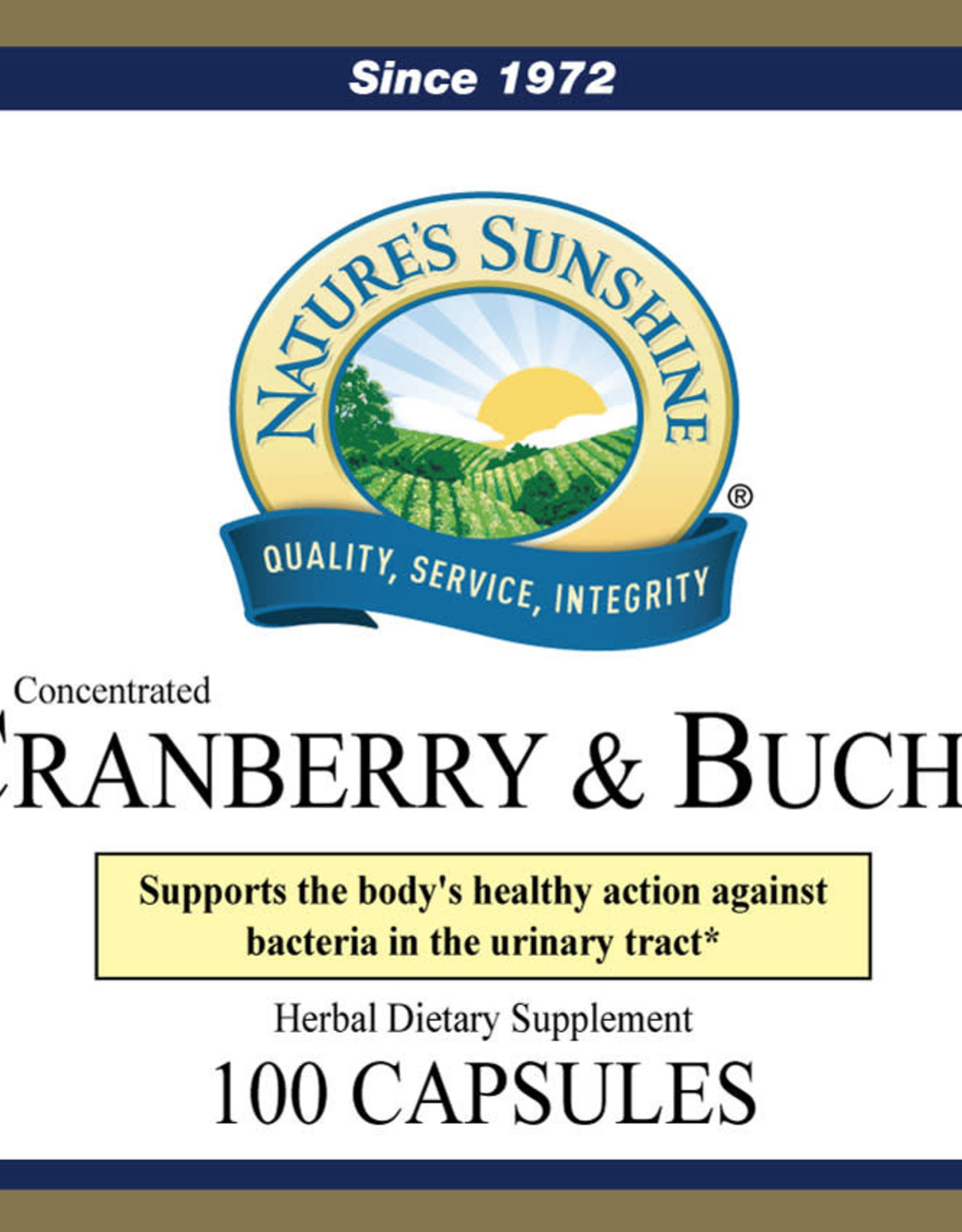 Nature's Sunshine Cranberry & Buchu Concentrated