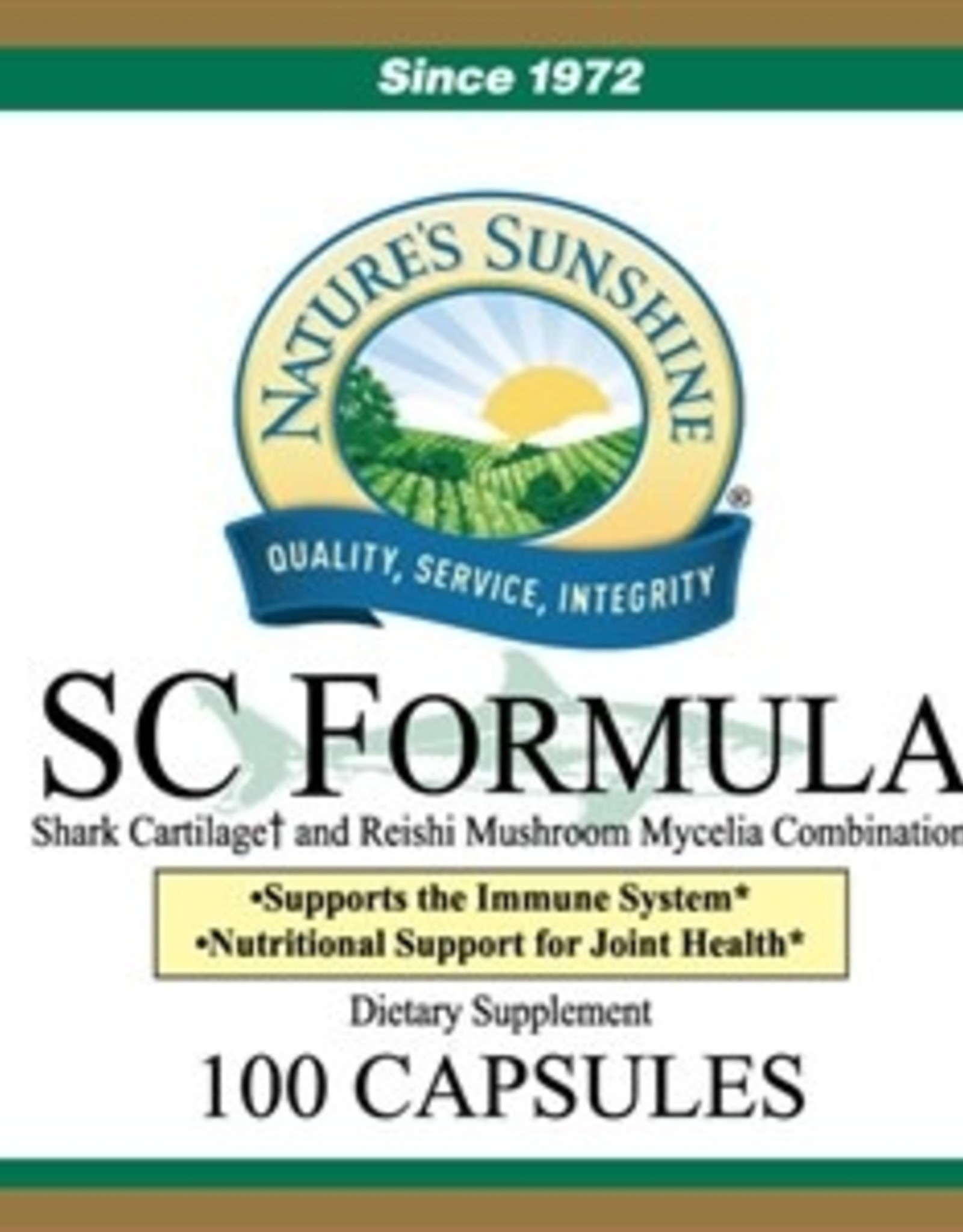 Nature's Sunshine SC Formula (Shark Cartilage) (100 caps)